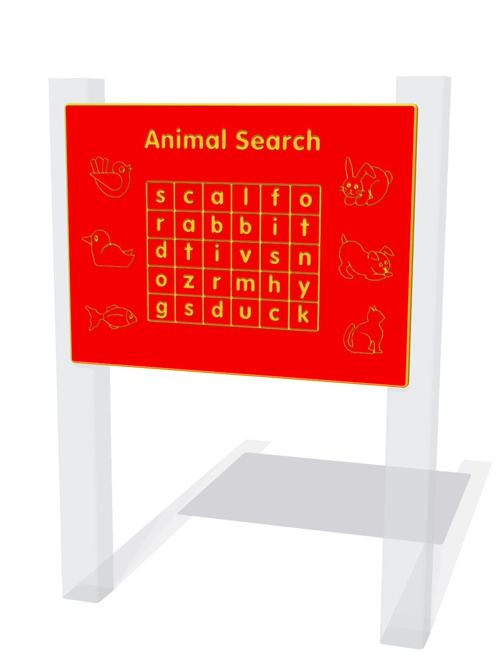 Animal Search Play Panel