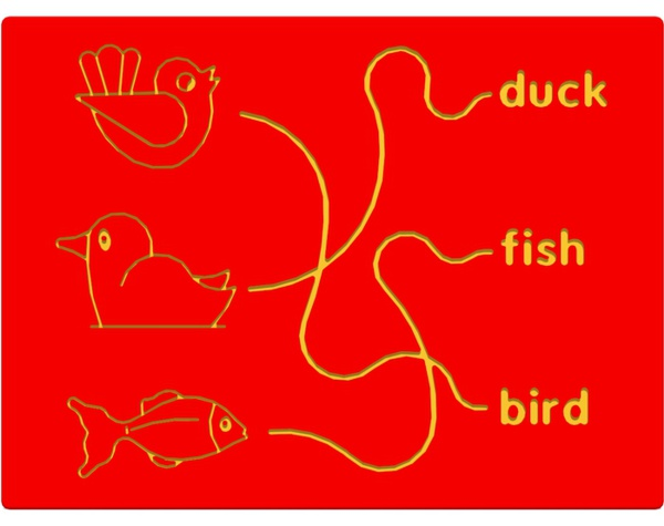 Bird Duck & Fish Trace Play Panel