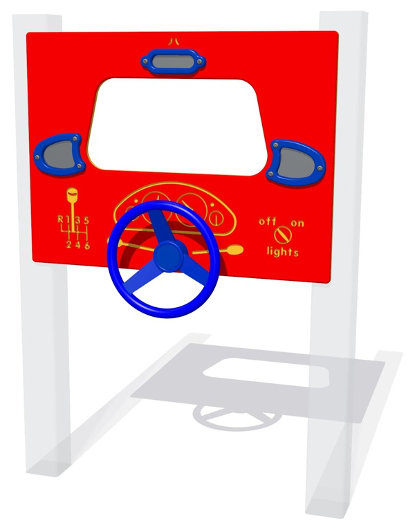 Driving panel with mirrors can be mounted on posts