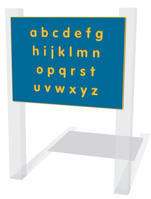 Alphabet Lower Case Play Panel