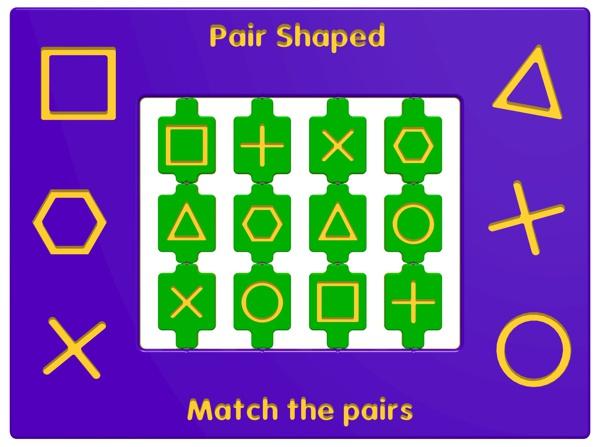 Pair Shaped Play Panel