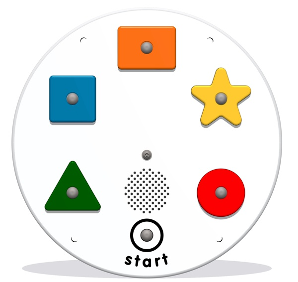 PlayTronic Shapes Reactions Game Insert