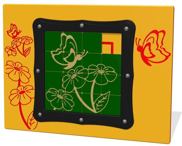 Tile Slide Butterfly Play Panel