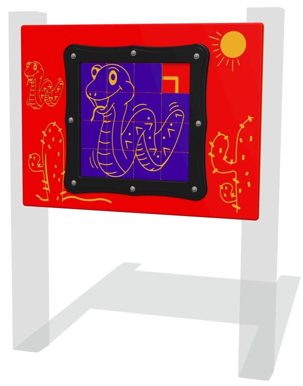 Tile Slide Snake Play Panel