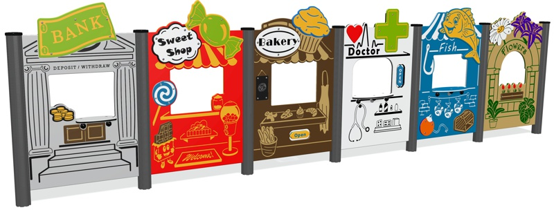 Toy Town Play Panel Set (6 panels)