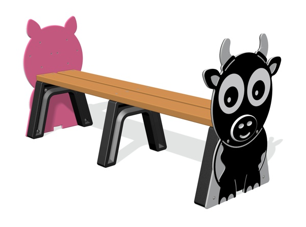 Farm Animals Backless Bench