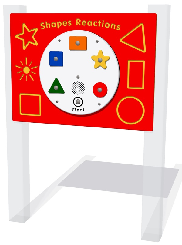 PlayTronic Shapes Reactions Game Panel