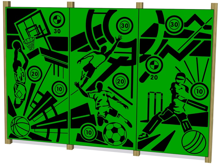 Sports Wall Basketball Panel