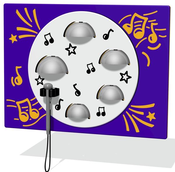 5 Bells Musical Play Panel