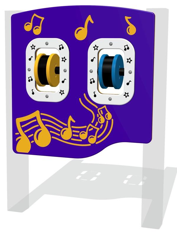 Spin Maracas Musical Play Panel
