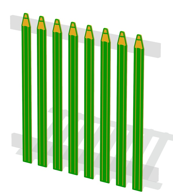 HDPE Pencil Top Fencing Palisades