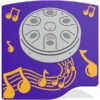 PlayTronic Tongue Drum Musical Panel