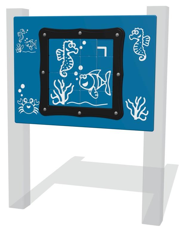 Tile Slide Fish Play Panel