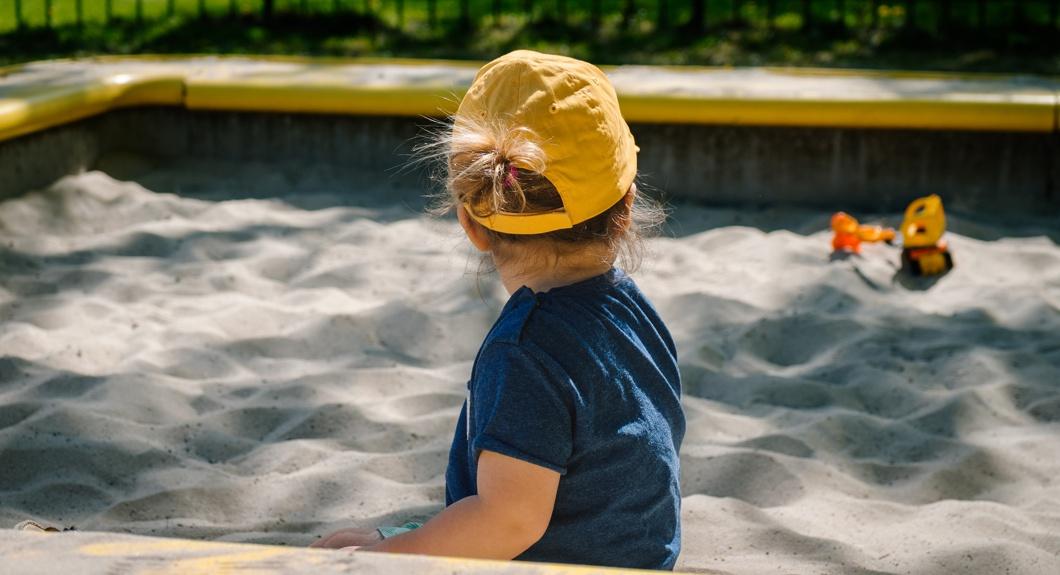 child in sandpit