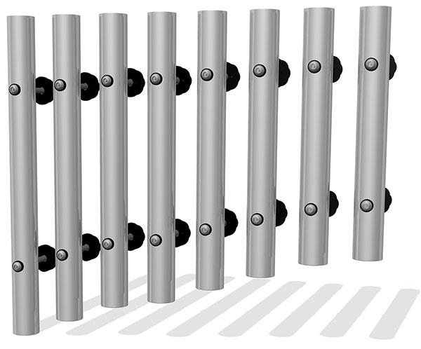 Individual 38mm Tube Chimes Bolt Fixing