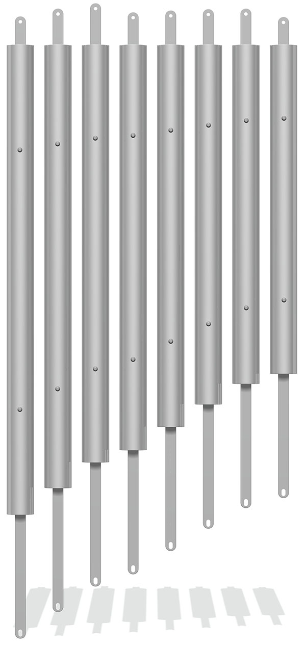 Individual 76mm Tube Chimes with Straps