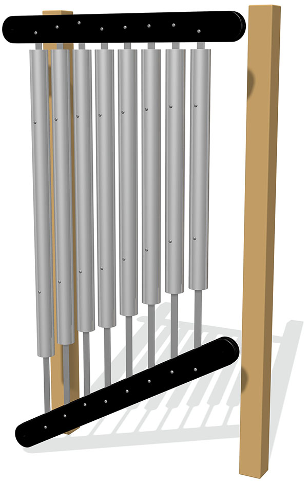 76mm Tube Chimes (8) Rail Mounted